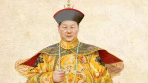习近平穿满清皇帝龙袍像