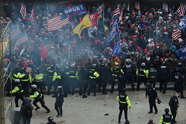 支持川普抗议者,共和捍卫者