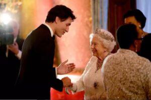 加拿大总理特鲁多和女王