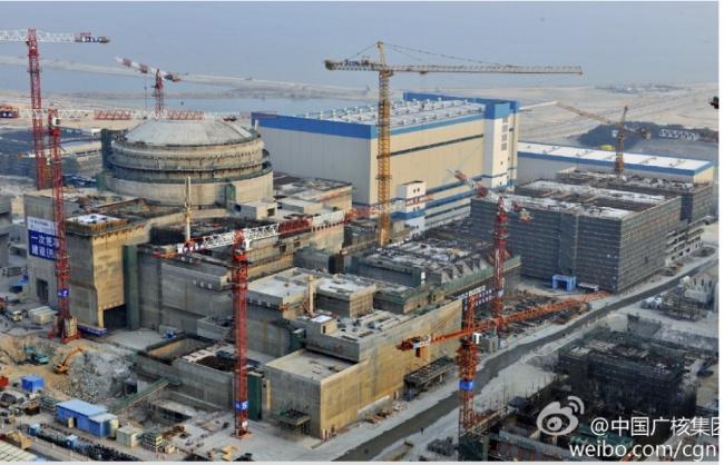 中国广东台山核电厂。(翻摄微博@中国广核集团)