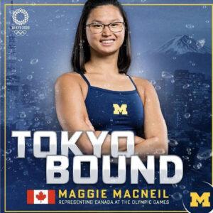 加拿大领养的华裔女孩Maggie MacNeil夺100米奥运会蝶泳金牌