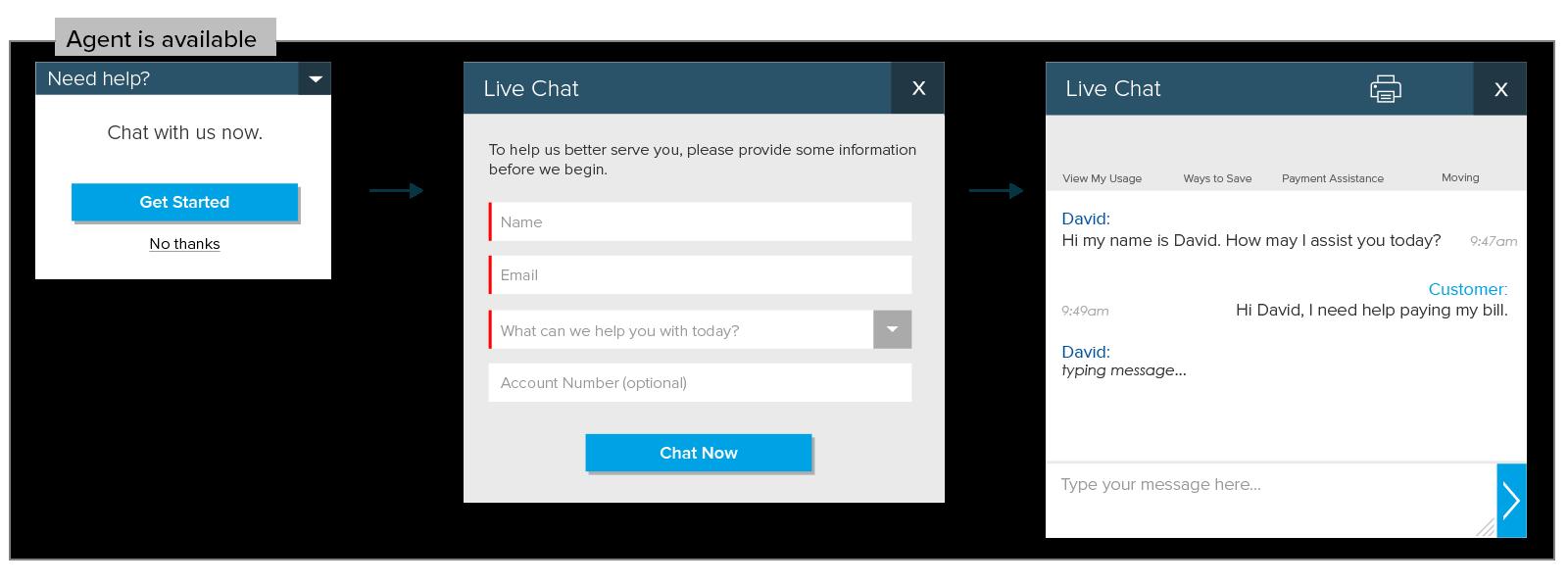 Live Chat - UX/UI Design