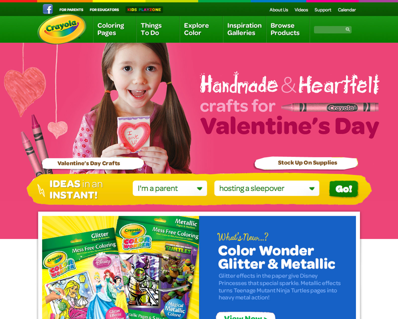 Web Design | Crayola
