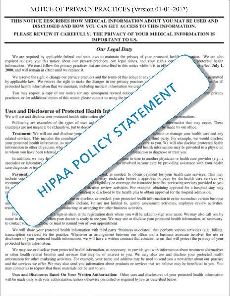 HIPAA - Authorization Policy and Procedure Handouts 1-1-2017f