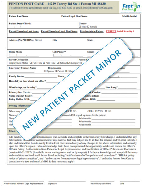 New Patient Packet Minor