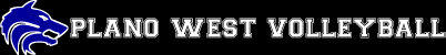 Plano West Volleyball Logo