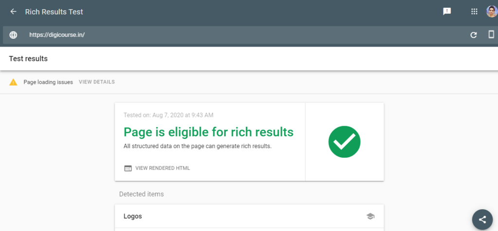 Google's Rich Result Test