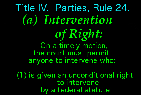 Intervention of right