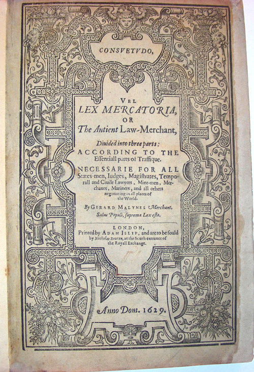 lex mercatoria book