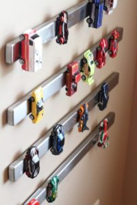 Magnetic Holders for Toy Cars