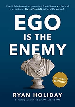 OK, we all know this and yet we let our ego get in the way of everything... literally everything. I love this book because of Ryan's direct, stoic approach to the damage allowing our ego to run our lives can create.