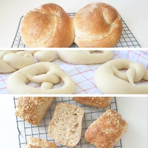 German Breakfast - get one baking kit for each bread treat in this 'Set of 3'