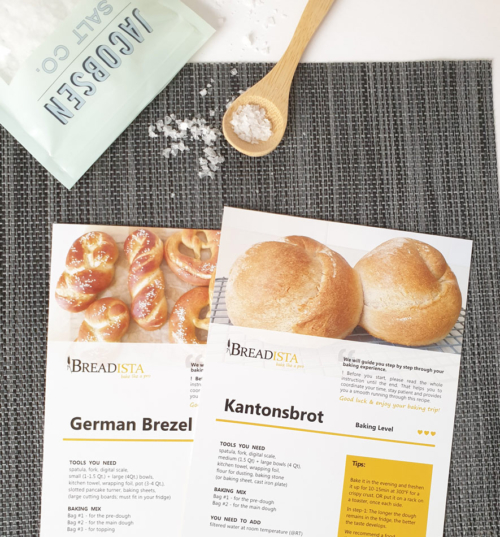 Soft Pretzel and Bread Baking Mix - instruction cards