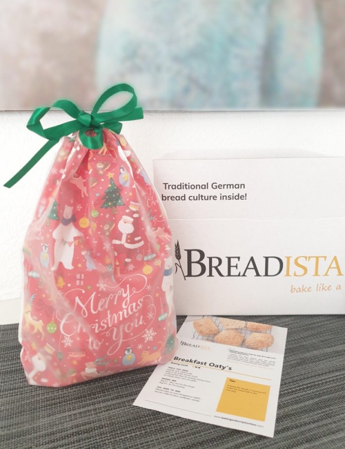 Christmas bag with BREADISTA's baking mix