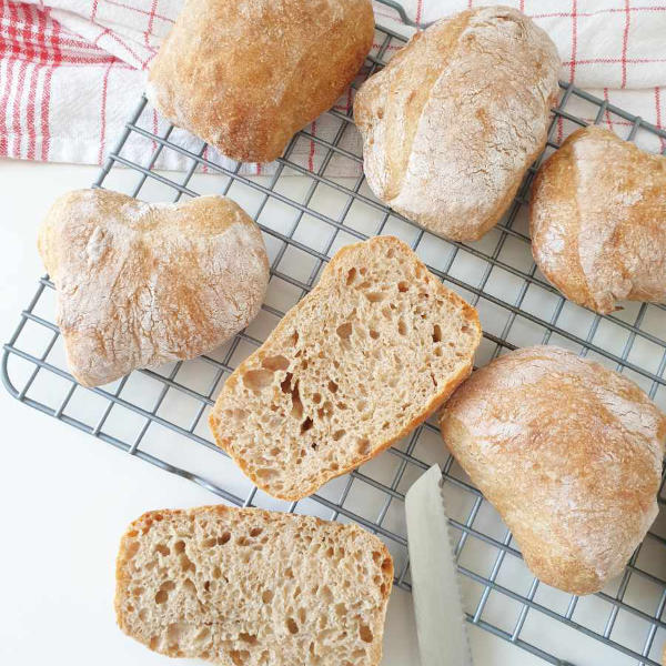 German bread rolls made from a baking kit