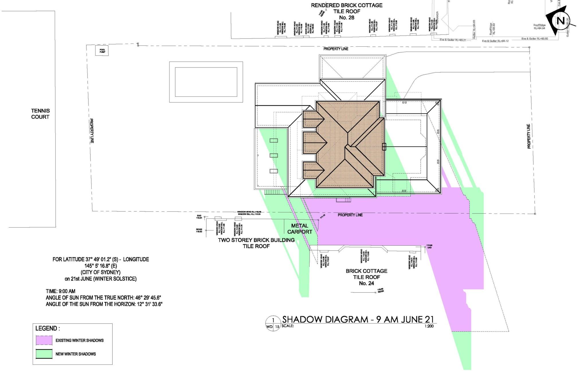Shadow Diagram -House Renovation