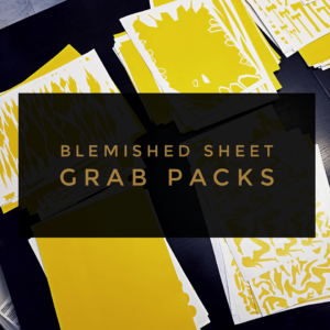 BLEMISHED SHEET GRAB PACK! (limited quantity)