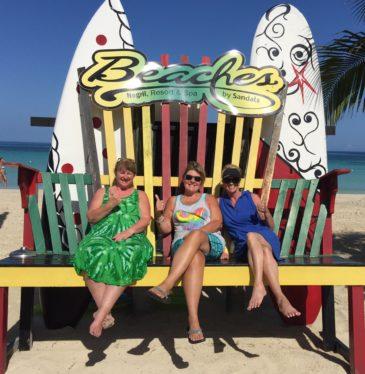 Renee Wendi and Kelli in Jamaica