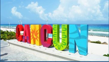 Cancun Welcome Sign