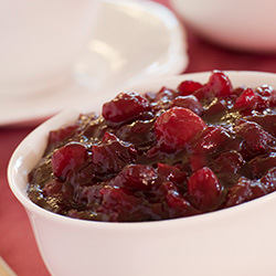cranberry sauce with Ginger