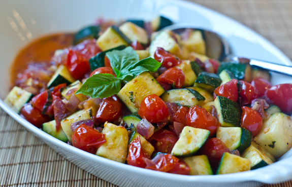 Sautéed Zucchini and Tomatoes