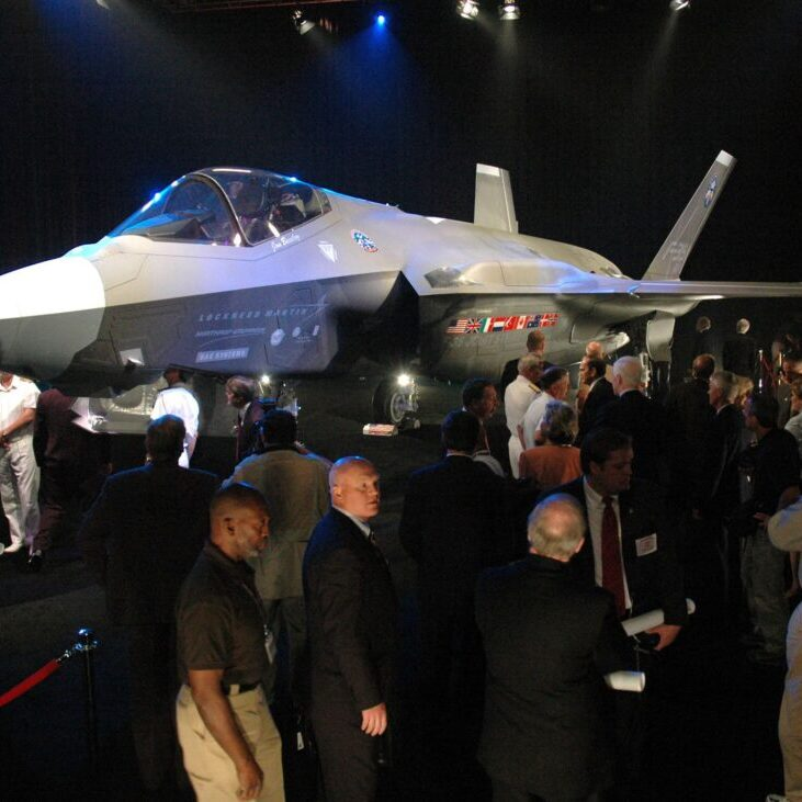 Guests view F-35 Lightning II
