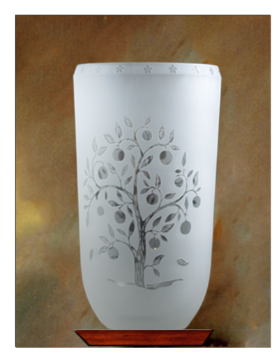 Crystal Groves Etched Vase