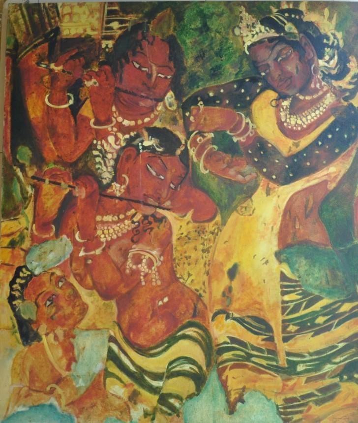 Ajanata copy work Medium: Oil Size: 3 x 3.5 feet Year: 2013