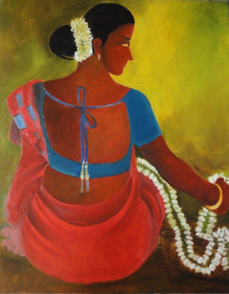Title: Gajarabali Medium: Oil Size: 1.5 x 2 feet Year: 2013