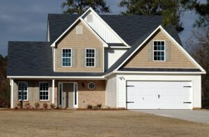 Realtor® Yakima Washington Homes blue, white, tan gorgeous two-story home for sale