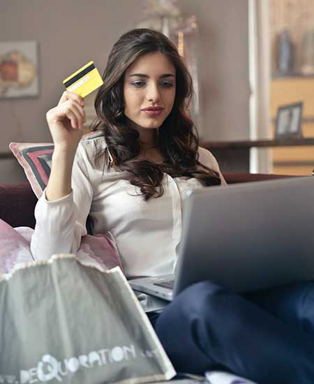 Realiza compras online
