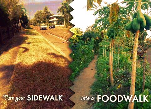 Sidewalk into food walk