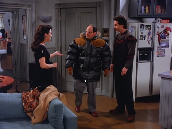 George from Seinfeld wearing the Gore-Tex jacket.