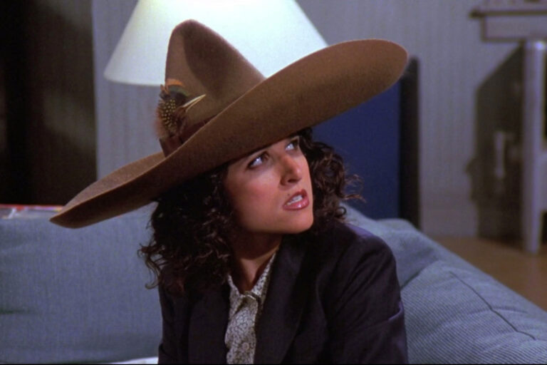Elaine from Seinfeld wearing the Urban Sombrero.
