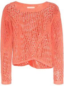 Nicholas Daley Crochet Knit Sweater