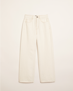 The Nina Wide-Leg Jean in White by Frank and Oak