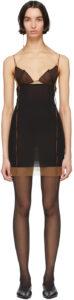 Black & Brown Silk 7 Dress by Nensi Dojaka