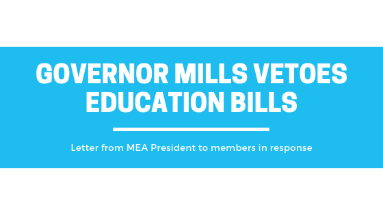 Vetoed Bills Would Have Supported Educators, Students and the Profession
