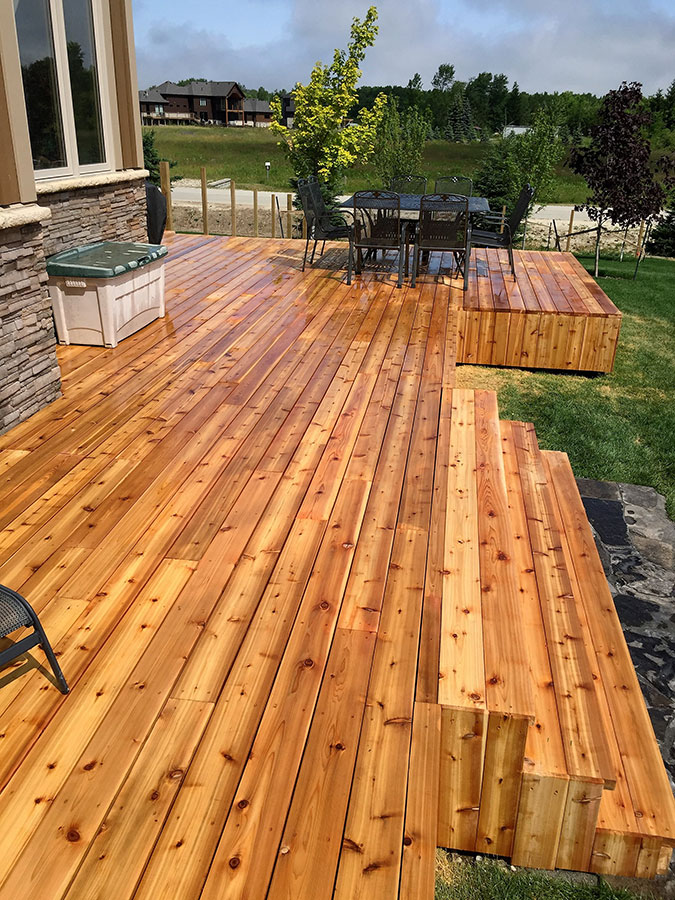 Large backyard deck