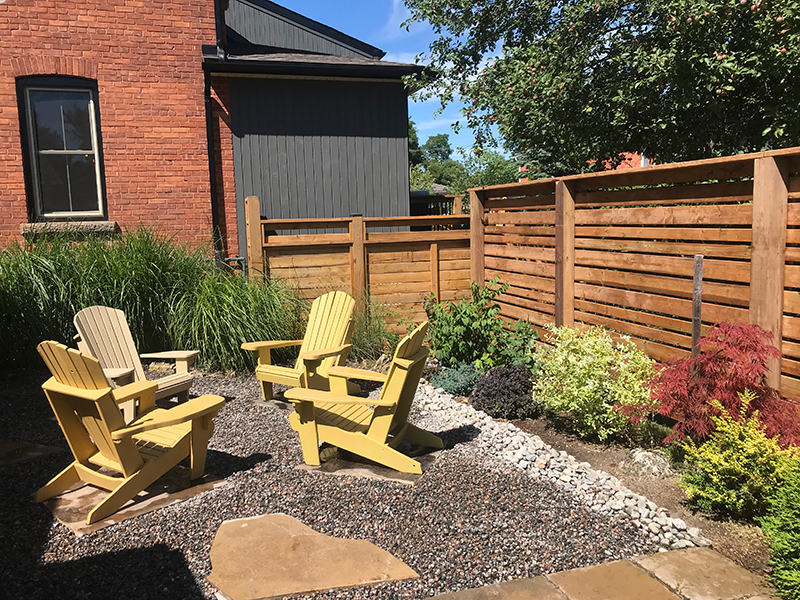 Backyard Design fence patio