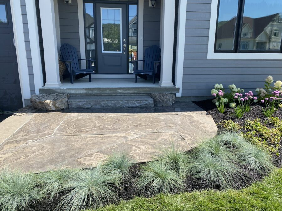 Flagstone with Perrenial Gardens