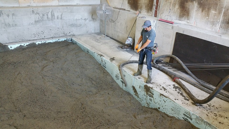 concrete machine base contractors