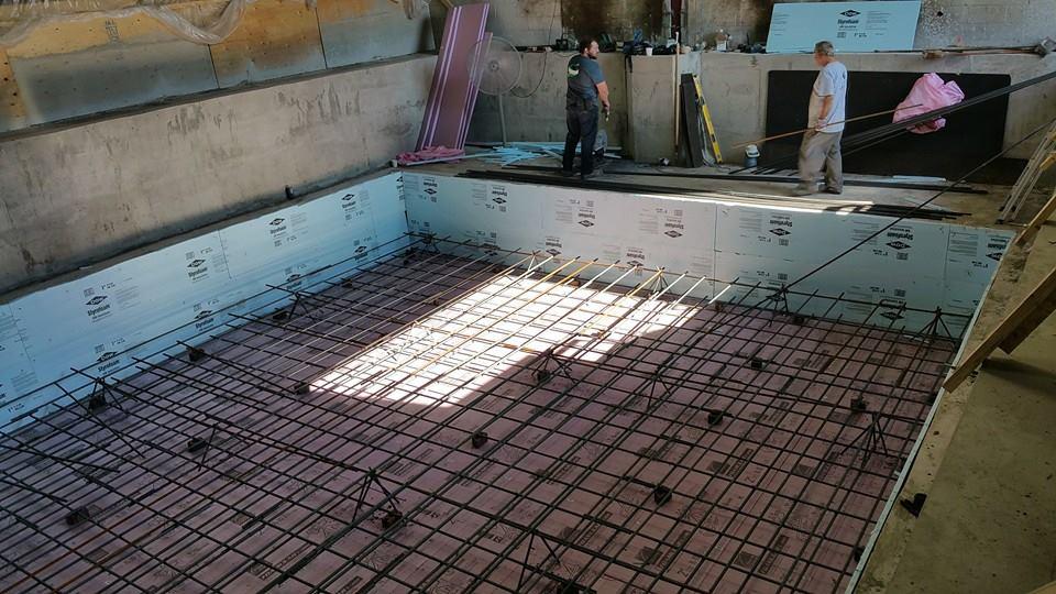 concrete machine foundation