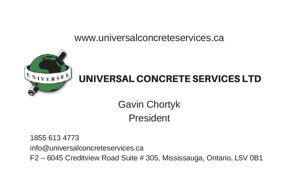 Concrete Machine Base Contractor Toronto