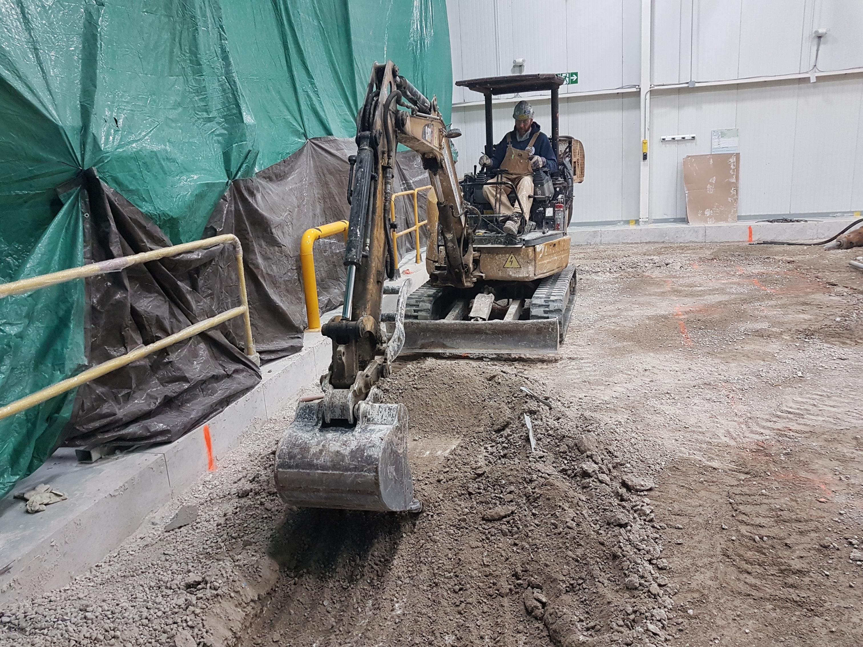 Ontario concrete machine base construction