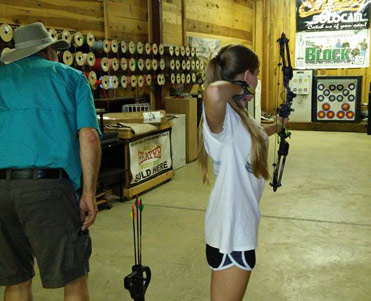 Bennett's Archery indoor range