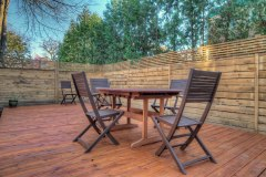 Terrasse cèdre rouge et clôture en pruche