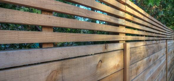clôture en pruche