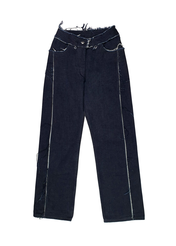 Front Fray Jean
