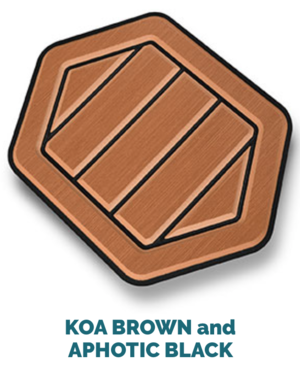 koa brown and black
